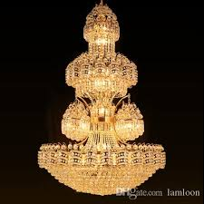 led crystal chandelier light noble luxury high end pendant lamp large american vintage style hotel project construction lights factory