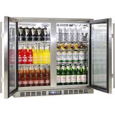 heated doors 2 door alfresco fridge rhino plenty of shelf options