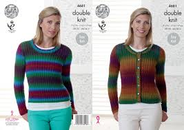 Cardigan And Sweater In King Cole Riot Dk 4681 The Knitting Network