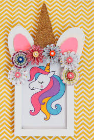 unicorn frame diy is an easy unicorn paper craft idea if you are looking for