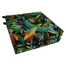 blazing needles 20 inch all weather outdoor chair cushion set of 2
