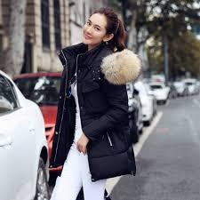 cool aliexpress com top quality womens fur hood coat