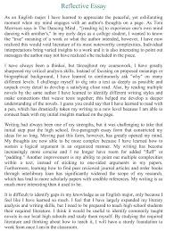 Example Of A Reflection Essay Personal Reflection Essay Example