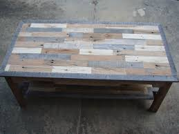 Coffee Table  Pallet Coffee Table From Reclaimed Wood Steps With Pallet Coffee Table Diy Instructions