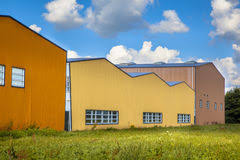 colorful contemporary modern industrial. Colorful Contemporary Modern Industrial. Industrial Buildings In A Newly Devoloped Commercial Area Stock Photos R