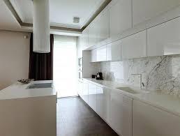 modern kitchen marble backsplash. Perfect Modern Modern Kitchen Marble Backsplash View In Gallery Super Sleek  White With A For Modern Kitchen Marble Backsplash K