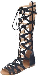 <b>Mens gladiator Sandals</b> High Top Leather Lace Up Roman sandals ...