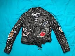 zara black studded leather jacket new m