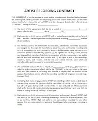 music management contract pricing record label agreements