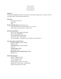first resume examples resume examples teenager age first job shoulderbone us