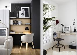 office interior inspiration. Monochrome Black And White Scandinavian Office Decor Inspiration Office Interior Inspiration