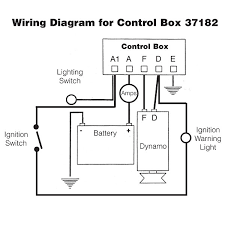 wiring diagram for control box 37182 with ignition switch and dynamo quicksilver 3000 control box diagram at Control Box Diagram