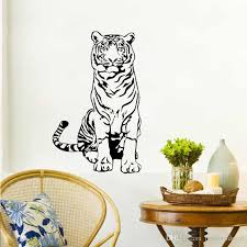 tiger wall stickers animals children s stickers on the wall nursery decoration removable vinyl wall decals stickers for home stickers for home decoration