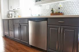 remodelaholic kitchens with color. lower cabinets painted gray, lovelee homemaker featured on remodelaholic kitchens with color