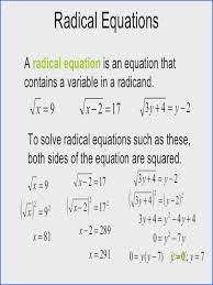 solving radical equations worksheet with answers