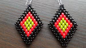 Native American Beaded Earrings Patterns Free Simple Decoration