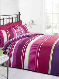 cambridge stripe printed duvet set red free uk delivery terrys