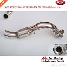 BMW 3 Series bmw 335d performance parts : Mertop 70mm Particle Filter Replacement Downpipe Dpf Off For B ...