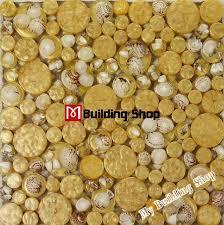 yellow glass wall tile kitchen backsplash resin shell mosaic rnmt075 penny round glass mosaic for bathroom
