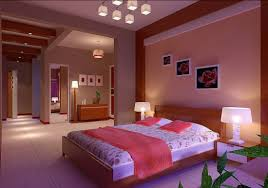 Elegant Luxury Bedroom Walls Lighting Design Rendering House