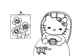 Hello Kitty Drinkt Chocolademelk Kleurplaten Voor Jou