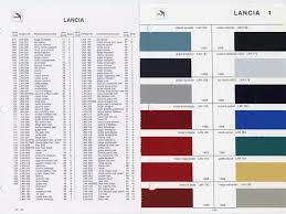 Glasurit Color Chart Colors Glasurit And Lancia