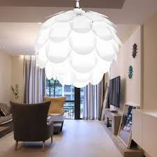 crafty inspiration ideas iq pendant light diy artichoke pinecone shape puzzle lampshade cover kids ceiling covers