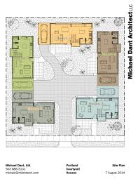 modern u shaped house plans australia with central courtyard pool in prepossessing middle