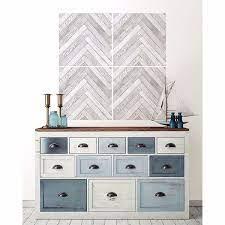 herringbone wood wall art kit