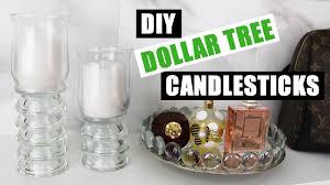 Diy Candle Holders Diy Dollar Tree Candlesticks Dollar Store Diy Candle Holders