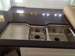 double basin sink left drainboard oliveri double bowl sink with integrated drainboard