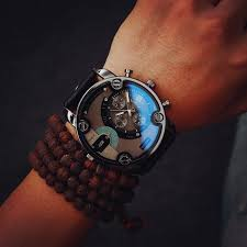 popular big blue watches buy cheap big blue watches lots from blue glass big dial black leather quartz men watches fashion casual watch sports out door military wristwatch