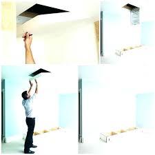access panel home depot attic hatch foam board insulation layers ventilation baffles p