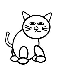 Tổng hợp các bức tranh tô màu con Mèo dễ thương