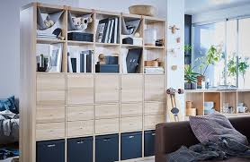 Our KALLAX storage shelving unit in white stained oak effect can be used as  a room