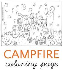 Small Picture Campfire Coloring Page And a Surprise Conversation
