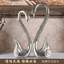 creative wedding gift european retro swan ornaments inside the living room cabinet decor housewarming ceremony items