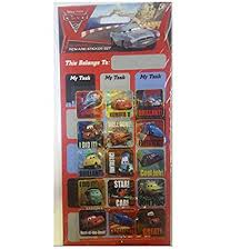 Amazon Com Disney Pixar Cars 2 Reward Sticker Chart