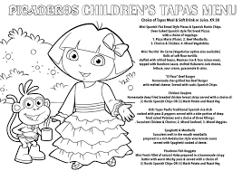 Childrens Colouring Competition Picaderos Restaurant