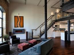 Urban Living Room Design Loft Bedroom Industrial Contemporary Design Brick Loft Bedroom