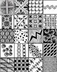 Simple Zentangle Patterns