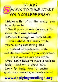 stuck tips to jump start your college essay applying to college 5 tips to jump start your college essay applying to college