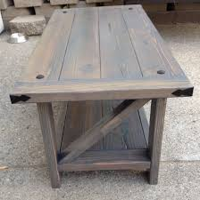 rustic z coffee table ana white