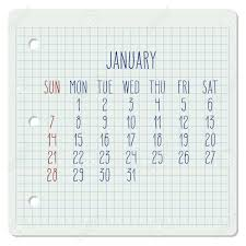 Monthly Calendar Notebook January Year 2018 Monthly Calendar On A Squared Notebook Page