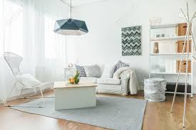 stylish furniture for living room. Stock Photo - Trendy Furniture In Small Cozy Living Room Stylish For L
