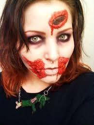 latex zombie makeup a cut gash