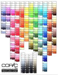 True Color Chart Copic Color Chart Archives Stamptress