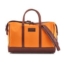 daines hathaway overnight bag canvas orange