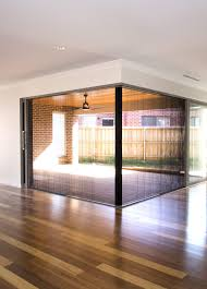 corner retractable fly screen door available on boutique sliding doors only