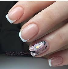Uñas de pies sencillas uñas pies decoracion. French Nails With Gold Wedding Manicure Frenchnailselegant Manicura De Unas Disenos De Unas Mariposas Manicura